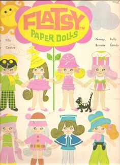 Flatsy paper dolls.  The dolls were fairly sturdy cardboard with little plastic ring stands.