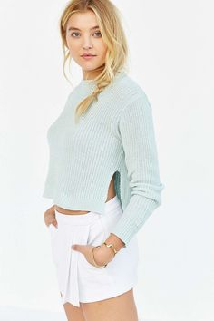 Kimchi Blue Hayden Cropped Sweater #UrbanOutfitters