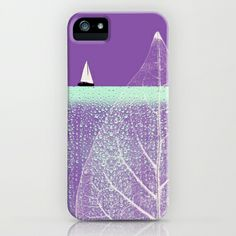 Ocean Wonderland I iPhone & iPod Case by Pia Schneider [atelier COLOUR-VISION] - $35.00 #art #collage #surrealism #nature #landscape #ocean #leaf #sail #waterdrops #radiantorchid #purple #hemlock #modern #minimalism #water #piaschneider #ateliercolourvision #phonecover #iphonecase #cases #ipodcases