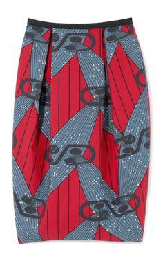 High-Waist Printed Wax Cotton Skirt by Stella Jean Now Available on Moda Operandi. #Africanfashion #AfricanClothing #Africanprints #Ethnicprints #Africangirls #africanTradition #BeautifulAfricanGirls #AfricanStyle #AfricanBeads #Gele #Kente #Ankara #Nigerianfashion #Ghanaianfashion #Kenyanfashion #Burundifashion #senegalesefashion #Swahilifashion DK