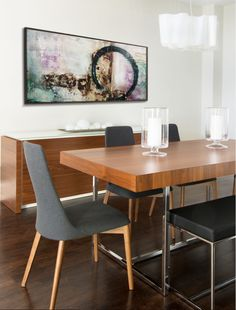 FIG Interiors - Calligaris PARENTESI table, ETOILE chairs and EVEN PLUS bench