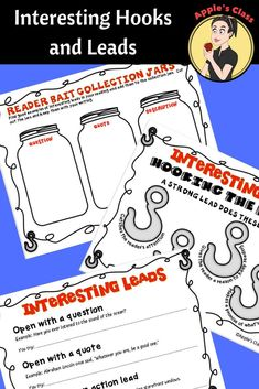 Looking for anchor chart products that will support your writing workshop? This set of anchor charts, graphic organizers, and interactive notebook pages will get your students excited about incorporating interesting leads and hooks into their personal narratives.  Resources like this one together with mentor texts create a great scaffold for better writing.