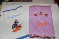 Carnet de santé sur commande Reusable Tote Bags, Health Book, Wool