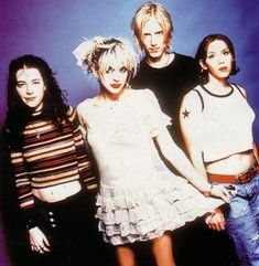Costumes, hair, and makeup. Hole - Courtney Love's band - circa the 1990's.