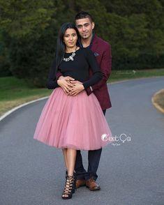 Clarisa Gray Pink Tulle Skirt - Midi