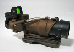 Trijicon TA31ECOS G ACOG 4x32 Green Xhair 3 25 MOA RMR Killflash Flip Covers   // Combination of 4x intermediate range with the scope  and CQC style sighting with a mounted red dot makes this an ideal choice for those who consider themselves marksmen and war-fighters but don't have delusions of being a sniper.  Add Trijicon AGOG's  reputation for rugged reliability and you'd be hard pressed to find tougher more versatile option.
