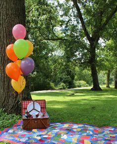picnic com balões