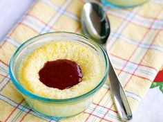 Limoncello Custards With Limoncello-Berry Sauce