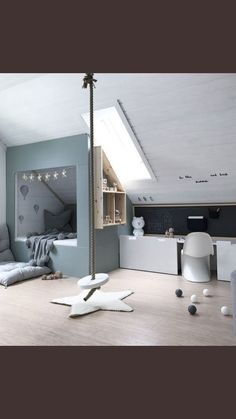 Children's room under the roof. - Children's room design - Children's room under the roof. – Children's room design - Attic Rooms, Attic Spaces, Kid Spaces, Attic Loft, Attic Bathroom, Attic Bedroom Kids, Attic Bedroom Designs, Bedroom Loft, Master Bedroom