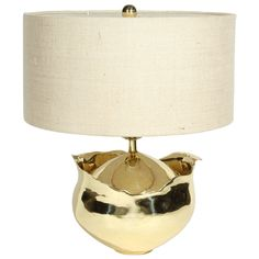gorgeous shape..vintage 50s Brass Lamp