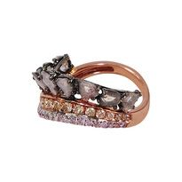 "DIAMOND ""CRAZY HORSE (SINGLE)"" RINGby L'Dezen by Payal Shah  Sliced Diamond, Diamond, Yellow Diamond & 18K Rose Gold Ring"