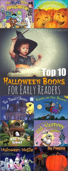 Top 10 Books for Halloween to help Early Readers | ilslearningcorner...