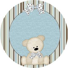 Teddy Bear Family, Toppers or Free Printable Candy Bar Labels. Baby Shower Parties, Baby Shower Themes, Baby Boy Shower, Oh My Fiesta, Candy Bar Labels, Baby Shower Cupcake Toppers, Baby Boy Scrapbook, Banner, Baby Shower Invitaciones