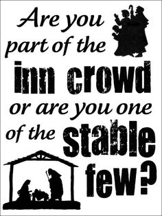 Are You part of the INN CROWD or are you one of the STABLE FEW?