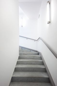 Image 4 of 21 from gallery of Extension of the St Jean de Vedas Technical Center / Chrystelle Sanaa. Space Architecture, Architecture Details, Stairs And Staircase, Industrial Windows, Stair Detail, Interior And Exterior, Interior Design, Stairway To Heaven, Architectural Features