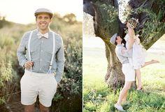 Wedding Ideas: playful bride groom white shorts