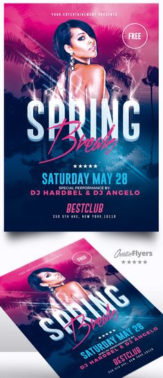 Creative Spring Break Flyers is a premium Photoshop PSD flyer / poster template designed by Creative Flyers perfect to promote your Spring Party ! Creative Flyer Design, Creative Flyers, Menu Design, Advertising Flyers, Creative Advertising, Flyer And Poster Design, Graphic Design Posters, Leaflet Layout, Psd Flyer Templates