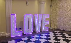 4 foot LOVE sign with multi-colour changing LEDs