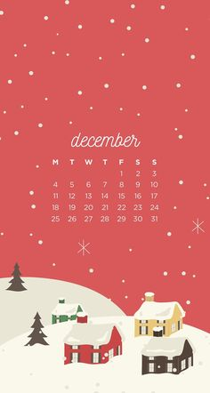 December Christmas Town Phone Wallpapers