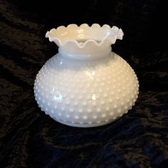 1950  Vintage Hobnail milk glass lamp shade by Nanaslittlecottage on Etsy