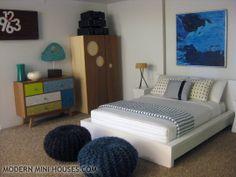 i'd sleep here if i were four inches high. (from Modern Mini Houses)