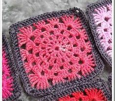 Cute And Simple Granny Wheel Square Pattern