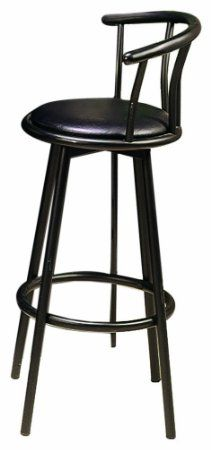 Amazon.com - Coaster 29-Inch Swivel Dining Barstool, Black Metal (2 units per box) - Bar Stools