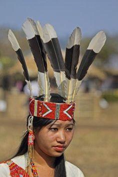 Wancho Woman, Tribe at Namdapha Eco Cultural Festival, Miao, Arunachal Pradesh, India