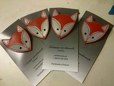 Diy And Crafts, Arts And Crafts, Foxes, Key Chain, Brooches, Reflection, Safety, Cards, Craft Ideas