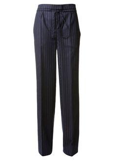 VERONIQUE BRANQUINHO Veronique Branquinho White Striped Navy Virgin Wool Pants. #veroniquebranquinho #cloth #