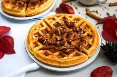Cardamom Pumpkin Waffles with Chai Spiced Maple Pecans (Gluten Free ...
