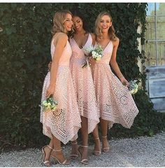 Full Lace Spaghetti Straps V-neck Pink Hot Sale Bridesmaid Dress. Pink Lace Unique With Straps V-Neck Simple Elegant Vintage Wedding Bridesmaid Dresses. Lace Unique With Straps V-Neck Simple Elegant Vintage Wedding Bridesmaid Dresses. Perfect Wedding, Dream Wedding, Wedding Day, Wedding Ceremony, Wedding Season, Simple Church Wedding, Rustic Wedding, Wedding Clip, Wedding Parties