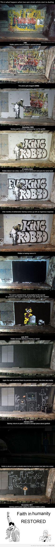 Banksy vs Robbo #streetart