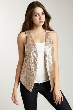 Sara Boo: Sequin Vest - I just had to add this piece to my closet!