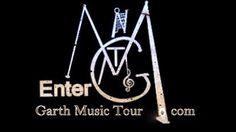Black and Gold logo of  www.GarthMusicTour.com