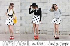 Ice cream jumper- three ways .  I'm too old for this but how stinking cute is it?
