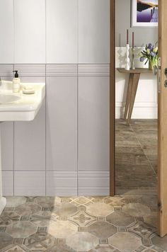 Le carrelage crée l'ambiance dans la salle de bains http://www.m-habitat.fr/sols-et-plafonds/carrelages/carrelage-sans-joint-560_A