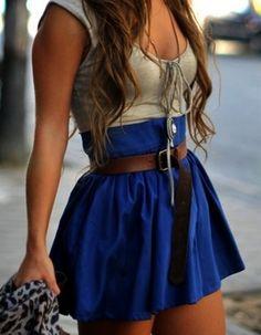 High waisted skirt, love the color!
