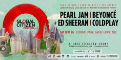 Beyonc�, Pearl Jam, Coldplay, Ed Sheeran play Global Citizen in NYC