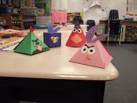 Tales of a Fourth Grade Teacher: Angry Birds Geometry Lesson...what a cute idea!