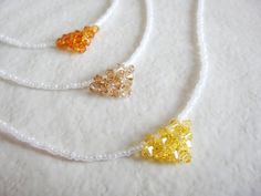 """White and Yellow Gold Triangle Crystal Pendant Necklace   Length - 40cm (around 15.7"""")"""