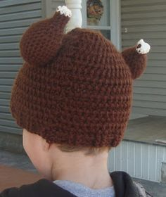 Turkey Leg Hat - Just in time for Thanksgiving, this free crochet pattern is festive and funny! Thanksgiving Crochet, Crochet Fall, Holiday Crochet, Cute Crochet, Crochet For Kids, Knit Crochet, Crochet Things, Halloween Crochet, Thanksgiving Ideas