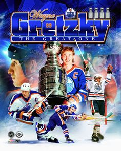 """Wayne gretzky """"the great one"""" edmonton oilers historic premium poster print Official Nfl Football, Hockey Posters, Funny Memes Images, Wayne Gretzky, Nhl Players, Edmonton Oilers, Sports Wallpapers, Nba Champions, Hockey Cards"""
