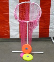 Frisbe Net Carnival Game- need to get Ray to make this!