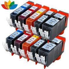 10x Compatible canon 650 651 Ink cartridge PGI-650 XL CLI-651XL for Pixma MG5560 MG5660 MG6360 MG6660 MG7260 MG7560 Printer