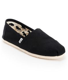 new concept 118fb d0c2b Toms Classic Black Canvas Slip On Shoes Mens 9.5 Brand New In Box. Zapatos  TomsLienzo NegroZapatos NegrosZapatillasHombres