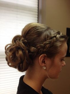 Cool up hairstyles 40 new updo - Hair Styles Communion Hairstyles, Dance Hairstyles, Braided Hairstyles Updo, 2015 Hairstyles, Pretty Hairstyles, Wedding Hairstyles, Braided Updo, Bridesmaid Updo Hairstyles, Curly Homecoming Hairstyles