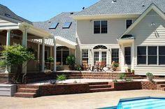 terraced patio