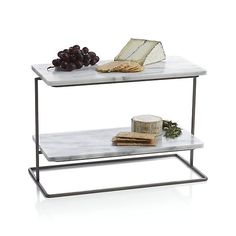 Rigsby Marble 2-Tier Server | Crate and Barrel