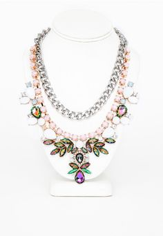 Zoha Embellished Double Layer Necklace Multi - Accessories - Jewellery - Missguided